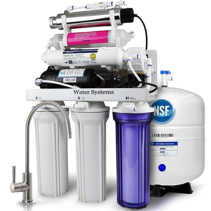 Domácí reverzní osmóza 50 GPD sedmistupňová s čerpadlem mineralizací a UV lampou