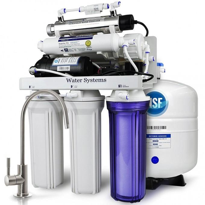 Domácí reverzní osmóza 50 GPD šestistupňová s čerpadlem a UV lampou